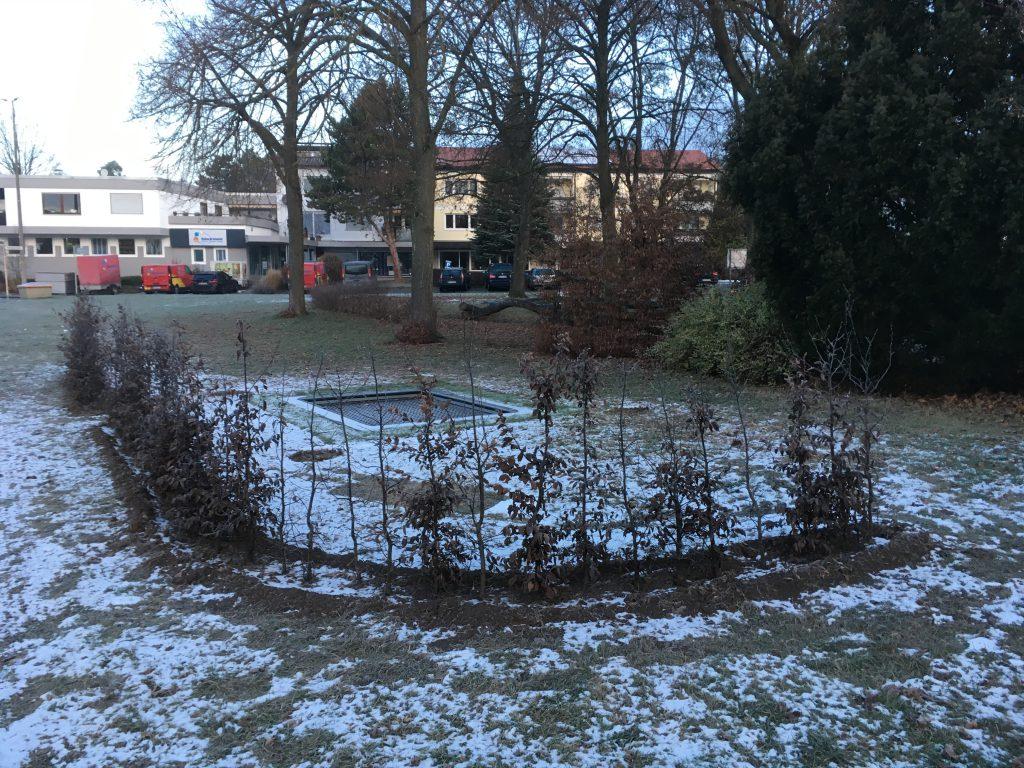 Kurz vor Weihnachten wurde das neue Trampolin fertiggestellt.