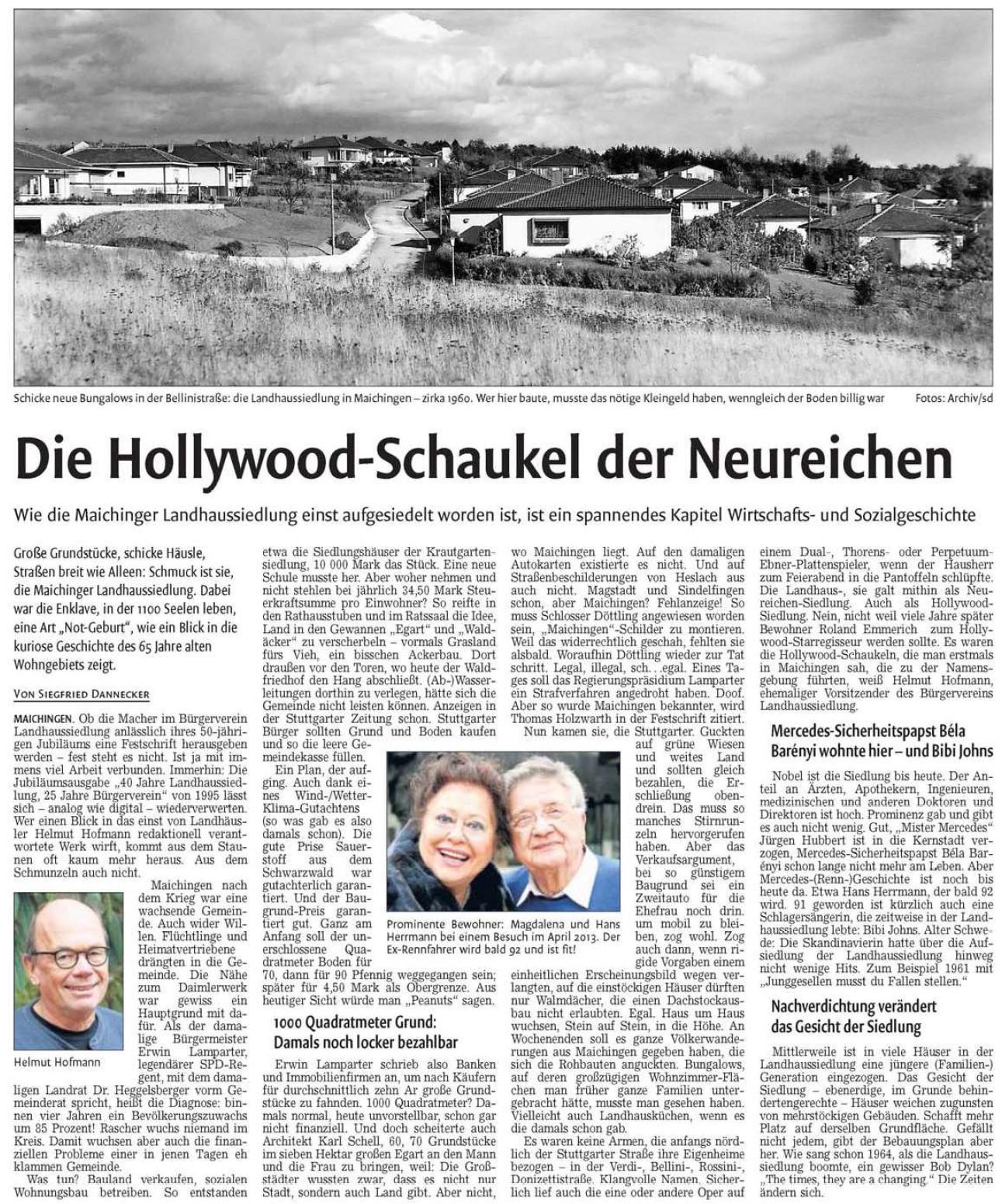 Bericht über 50 Jahre BVL (Kreiszeitung Böblinger Bote, 05.02.2020)